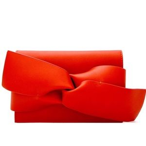 Red Bow Accent Clutch